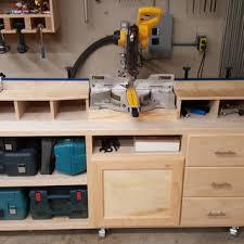woodworker u0027s journal ultimate miter saw stand plan rockler
