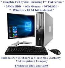 ordinateur de bureau complet windows 10 cheap fast hp system 17 monitor desktop