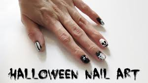 5 halloween nail art designs easy black u0026 white nail tutorial
