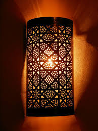 Moroccan Wall Sconce Moroccan Darken Metal Wall Light Sconce And Its Openwork Pattern