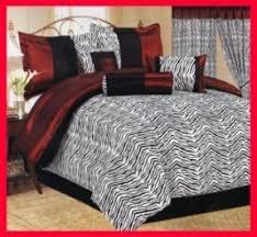 Zebra Comforter Set King Animal Print Bedding King Size Foter