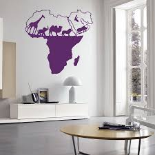 online get cheap africa wall mural aliexpress com alibaba group vinyl art sticker wild nature animal world map of africa home decor wall sticker living bedroom decoration wall mural w 56