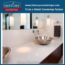 china sale engineered stone white color artificial quartz