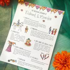 indian wedding programs custom projects bright blue designs