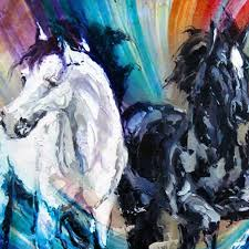 Decorative Paintings For Home Modern Wall Painting Horse Large Running Horse Oil Painting Oil
