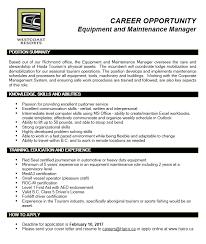 equipment u0026 maintenance manager richmond