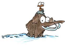 a monkey riding a woolly mammoth bluebison net