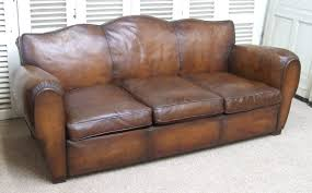 Leather Club Sofa F641 S Spectacular Vintage Moustache Back Leather Club