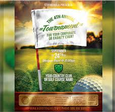 golf tournament flyer template 20 download in vector eps psd