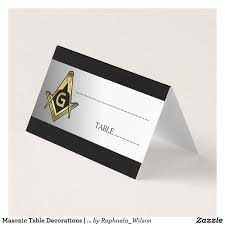 Masonic Home Decor Masonic Table Decorations Freemason Place Cards Masonic