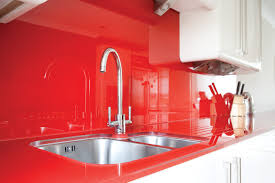 Red Kitchen Countertop - red and black kitchen cabinets modern design elegant cabinet