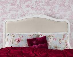 shabby chic antique white upholstered 6ft super king bed stunning
