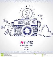 camera sketch stock vector image of background illustration