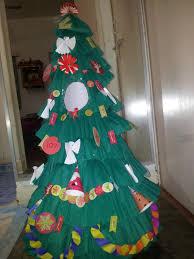 make a paper christmas tree christmas lights decoration