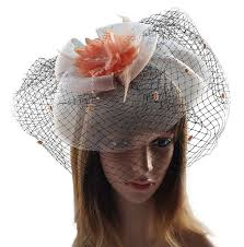 fascinator hairclip veil cocktail tea party church headwear bridal
