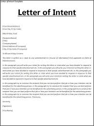 Sle Letter Of Intent For Salary Loan letter of intent template free word templates letter of