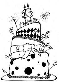 awesome birthday cake coloring page birthday coloring pages of