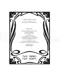 deco wedding program printable nouveau program template