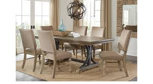 driftwood dining room table sierra vista driftwood 7 pc rectangle dining set dining room sets