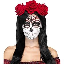 smiffy s women s day of the dead headband multi one