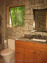 River Rock Bathroom Ideas Bathroom Designs With Waterproof Bathroom Wall Panels
