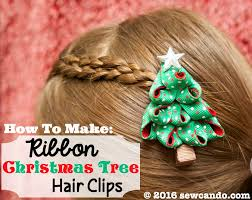 sew can do tutorial time 3 d ribbon christmas tree hair clips