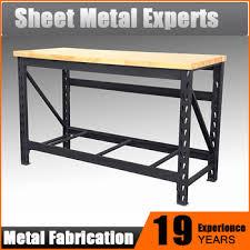 wood top work table 60 inch heavy duty wood top work bench garage metal work table buy