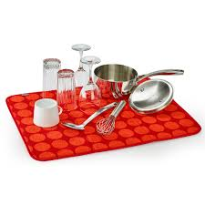 red dot 18 x 24 inch reversible dish drying mat builtny