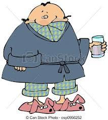 clipart uomo peignoir homme malade porter slippers ceci peignoir clip