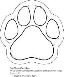 Paw Print Template by Paws Template Printable Nextinvitation Templates Paw