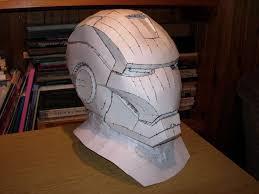 iron man helmet pepakura model by cubicalmember deviantart com