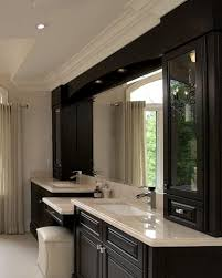 excellent wooden black classic style custom bathroom vanity