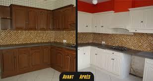 renover meubles de cuisine repeindre cuisine bois cuisine une cuisine entirement repeinte