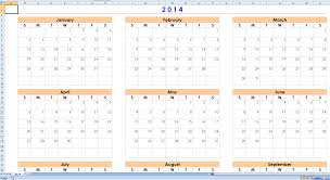 Excel Monthly Planner Template Free 2014 Excel Calendar Templates