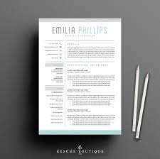 Best Resume Example by Modern Resume Examples Resume Template 4 Page Pack Aqua