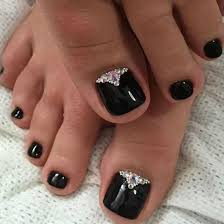 Nail Art Design Black Best 25 Black Toe Nails Ideas On Pinterest Black Pedicure