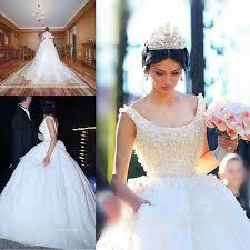 Cheap Online Wedding Dresses New Design 2016 Full Lace Wedding Dresses Ball Scoop Pearls