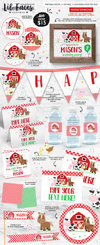 editable barnyard birthday decorations barnyard