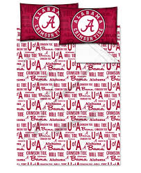 Alabama Crimson Tide Comforter Set University Of Alabama Sports Bedding Comforters And Pillows