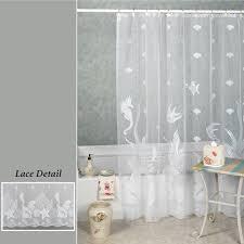 White Shower Curtain Seascape Shower Curtain