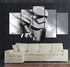 Canvas Home Decor 5 Panel Large Hd Printed Painting Stormtrooper Star Wars Movie