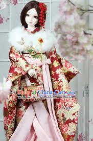 japanese traditional princess kimono dress complete set for women