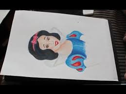 snow white time lapse speed color pencil sketch with tips youtube