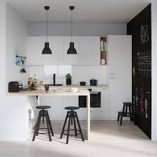 cuisine avec presqu ile aménagement cuisine blanche et bois 35 idées cool