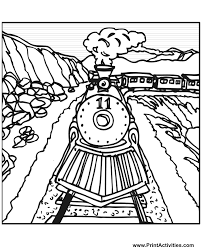 steam train coloring train number 11 tracks