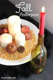 simple fall centerpiece idea the real thing with the coake family