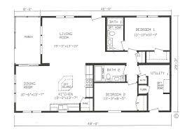 ranch floor plans open concept outstanding 2 bedroom bath ranch floor plans including open concept