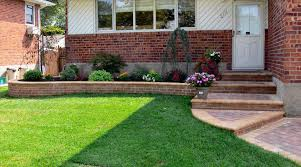 easy landscaping ideas for front of house fleagorcom