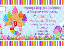 14th birthday party invitations candyland party invitations marialonghi com