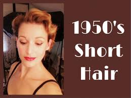 pixie hair cuts on wetset hair 1950 s short hairstyle using a roller set youtube